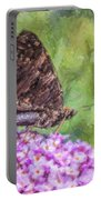 Peacock Butterfly Inachis Io On Buddleja Portable Battery Charger