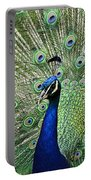 Peacock Display Portable Battery Charger