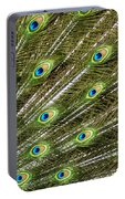 Peacock Feather Abstract Pattern Portable Battery Charger