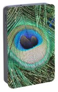 Peacock Feather Portable Battery Charger