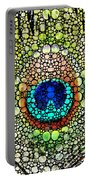 Peacock Feather - Stone Rock'd Art By Sharon Cummings Portable Battery Charger