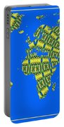 Peacock Feather World Map Portable Battery Charger