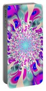 Peacock Flower Portable Battery Charger