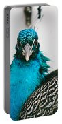 Peacock Front View Portable Battery Charger