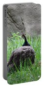 Peacock In The Grass Portable Battery Charger