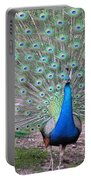 Peacock On Display Portable Battery Charger
