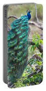 Peacock Perching On A Branch, Kanha Portable Battery Charger