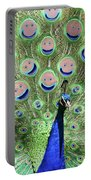 Peacock Smiles Portable Battery Charger