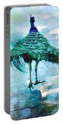 Peacock Walking Away Portable Battery Charger