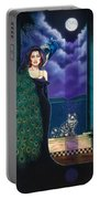 Peacock Woman Portable Battery Charger