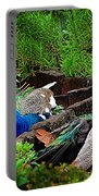 Peacocks In The Garden Portable Battery Charger