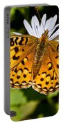 Pearl Border Fritillary Butterfly On An Aster Bloom Portable Battery Charger