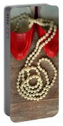 Pearls In Red Shoes Portable Battery Charger