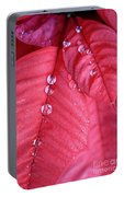Pearls On Poinsettia Portable Battery Charger