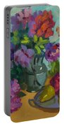 Pears And Roses Portable Battery Charger