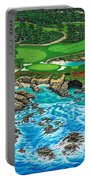 Pebble Beach 15th Hole-north Portable Battery Charger