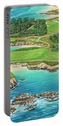 Pebble Beach 15th Hole-south Portable Battery Charger