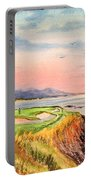 Pebble Beach Golf Course Hole 7 Portable Battery Charger by Bill Holkham