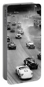 Pebble Beach California Sports Car Races Auto Road Race April 11 1954 Portable Battery Charger