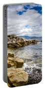 Pebbled Beach Under Dramatic Skies Number Two Portable Battery Charger