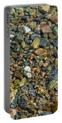 Pebbled Shore At Ullapool Portable Battery Charger