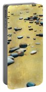 Pebbles On The Beach - Oil Portable Battery Charger