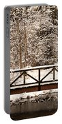 Pedestrian Bridge In The Snow Portable Battery Charger
