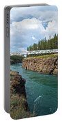 Pedestrian Bridge Over Yukon River In Miles Canyon Near Whitehorse-yk Portable Battery Charger