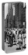 Pedestrians In New York Portable Battery Charger