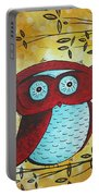 Peekaboo By Madart Portable Battery Charger by Megan Duncanson