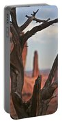 Peeking Through To Park Ave At Arches National Monument Portable Battery Charger