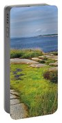 Peggy's Cove From Lighthouse-ns Portable Battery Charger