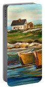 Peggys Cove With Fishing Boats Portable Battery Charger