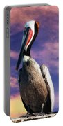 Pelican At Sunset Portable Battery Charger