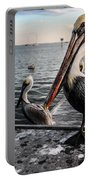 Pelican At The Pier Portable Battery Charger