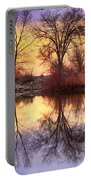 Pella Crossing Sunrise Reflections Hdr Portable Battery Charger