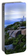 Pemaquid Light At Sunset Portable Battery Charger