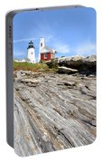 Pemaquid Point Lighthouse In Maine Portable Battery Charger