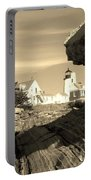 Pemaquid Point Sepia Portable Battery Charger