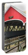 Pemigewasset River Covered Bridge In Fall Portable Battery Charger