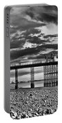 Penarth Pier Panorama Monochrome Portable Battery Charger