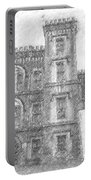 Pencil Drawing Of Old Jail Portable Battery Charger