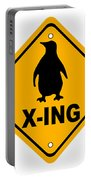 Penguin Crossing Sign Portable Battery Charger