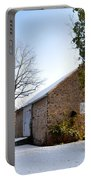 Pennsylvania Barn In October Snow Portable Battery Charger