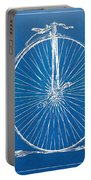 Penny-farthing 1867 High Wheeler Bicycle Blueprint Portable Battery Charger