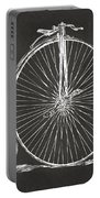 Penny-farthing 1867 High Wheeler Bicycle Patent - Gray Portable Battery Charger