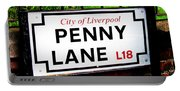 Penny Lane Sign City Of Liverpool England  Portable Battery Charger