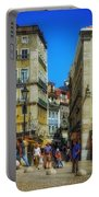 Pensao Geres - Lisbon 2 Portable Battery Charger by Mary Machare