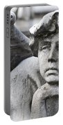 Pensive Angel Detail Monumental Cemetery Milan Italy Portable Battery Charger