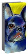 Pensive French Bulldog Portrait Portable Battery Charger